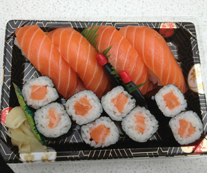 food, sushi, and japanese food image
