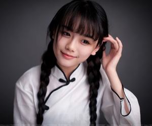 china girl, min guo student, and 合成 image