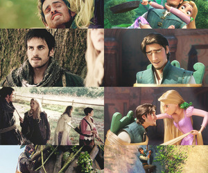 love story, once upon a time, and tangled image