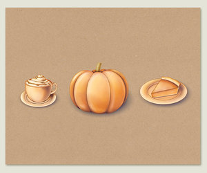 illustration, food, and scrapbook image