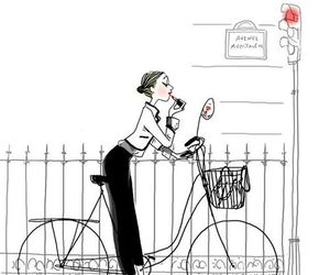 bicycle, bike, and drawing image