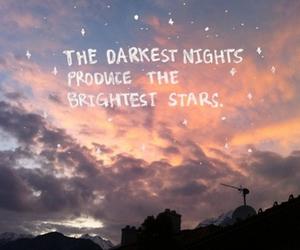 stars, night, and quote image