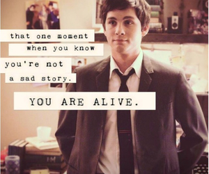 logan lerman, quotes, and alive image