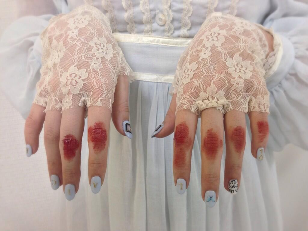 blood, japan, and lace image