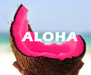 Aloha, pink, and summer image
