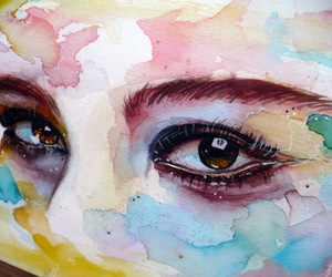 art, eyes, and lost image