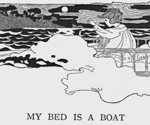 bed, boat, and Dream image