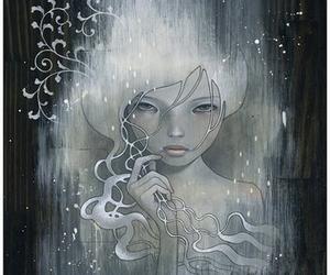 art, female, and female painting image