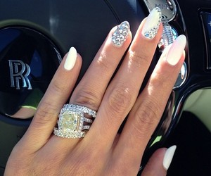 nails, ring, and diamond image