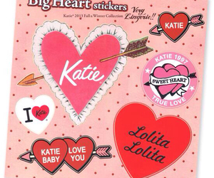 heart, katie, and pink image