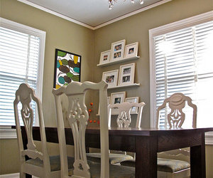 chandelier, diningroom, and table image