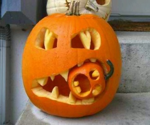 Halloween, pumpkin, and funny image