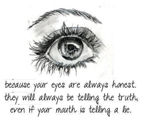 eyes, quotes, and lies image