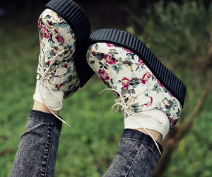flowers, shoes, and creepers image