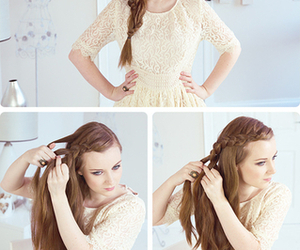 braid, hair, and love image