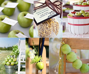 apples, centerpiece, and green apple image