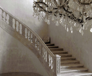 chandelier and stairs image