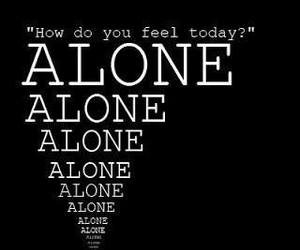 alone, quote, and feel image