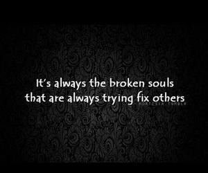quote, broken, and soul image