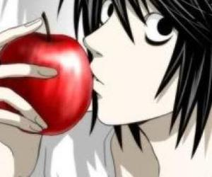 apple, death note, and anime image