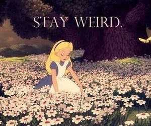 weird, alice, and flowers image