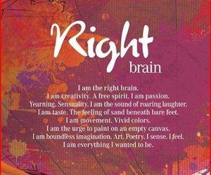 brain, quote, and right brain image