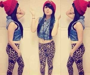 swag, beanie, and outfit image