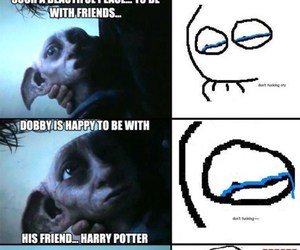 cry, harry potter, and dobby image