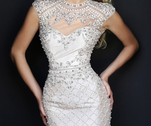 beaded, cocktail dress, and dress image