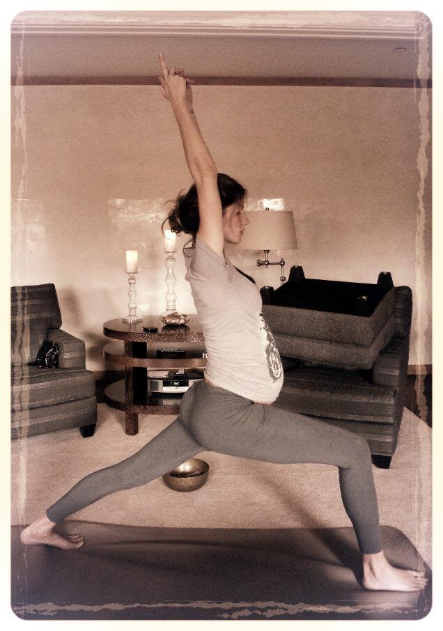 Gisele Bundchen and yoga image