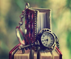 book, key, and clock image