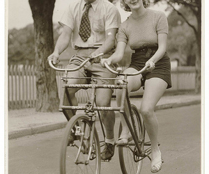 vintage, bicycle, and black and white image