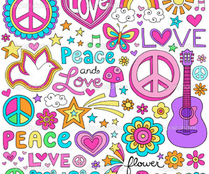 peace, love, and music image