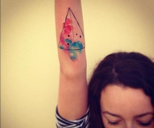 tattoo, geometric, and triangle image