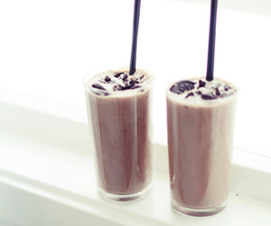 drink, oreo, and food image