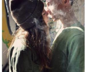 love, smoke, and couple image
