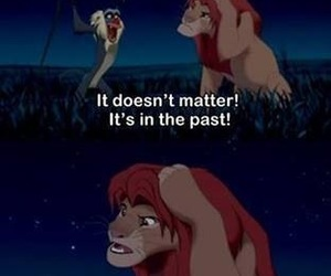 past, disney, and lion king image
