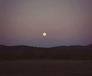 moon, sky, and grunge image
