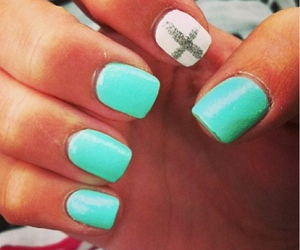 cross, glitter, and nails image
