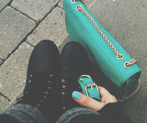 bag, style, and mintgreen image