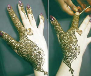 hand, indian, and henna image