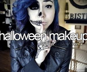 girl and halloween makeup image