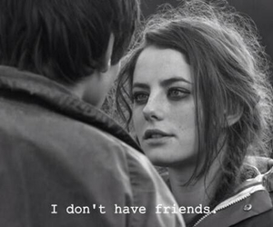 black & white, depressing, and friends image