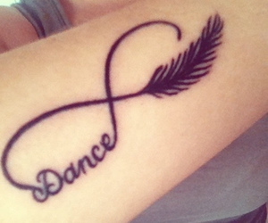 dance, tattoo, and infinity image