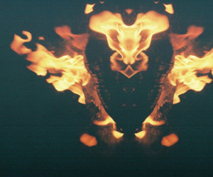 cool, fire, and dark image