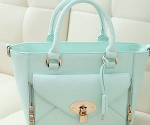 bag, blue, and pastel image