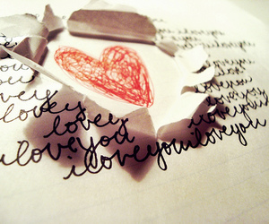 heart, Paper, and pen image