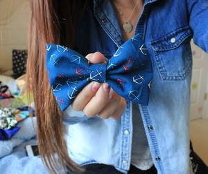 outfit, bow, and hair image