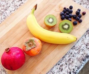 banana, blueberry, and kiwi image