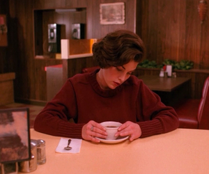 Audrey Horne, coffee, and Twin Peaks image